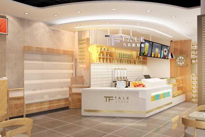 茶饮店铺装修设计效果图