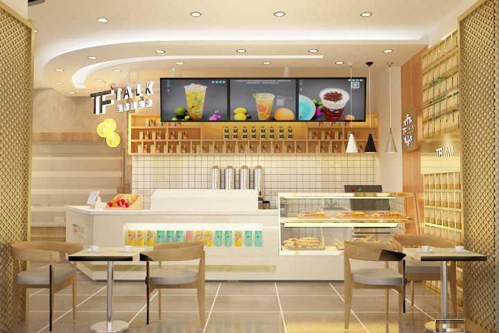 上海虹口茶饮店铺装修设计效果图