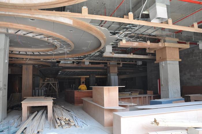 上海商场装修在建工地