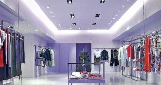 店铺空间装修灯光氛围