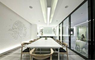上海办公室装修家具和地毯的配搭配形式