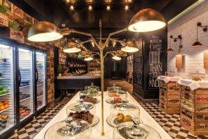 上海复古风格水果店铺装修效果图