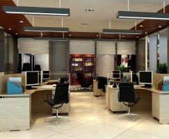 上海徐汇区260平办公室装修设计实景图